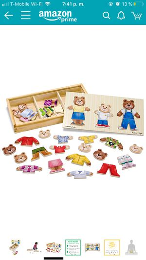 melissa and doug bear family dress up puzzle for Sale in Washington, DC