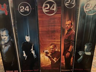 24 TV Series seasons 1-5 DVD Set for Sale in Spring,  TX