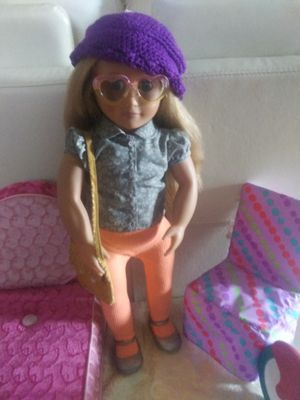 """Our Generation doll 18"""" like American girl doll with accessories for Sale in Henderson, NV"""