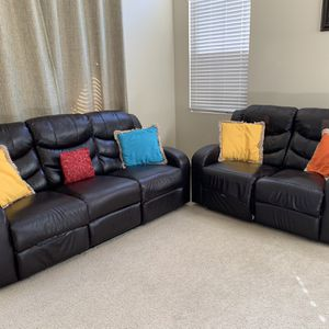 Reclining Sofa And Love Seat for Sale in Irvine, CA