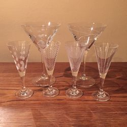 Mikasa Etched Glasses Stemware Barware /6 for Sale in Des Moines,  WA