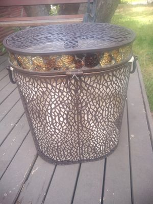 Beautiful steel laundry basket $price reduction $20 for Sale in Lynnwood, WA