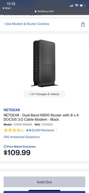 Netgear Router Modem for Sale in Baltimore, MD
