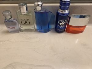 Five Men's cologne (Clinique, Polo, Nautica, Acqua di Gio, Hugo Boss) for Sale in Springfield, VA