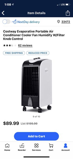 Costway evaporative portable air conditioner for Sale in Lake Worth, FL