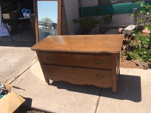 Antique dresser and mirror for Sale in Tucson, AZ
