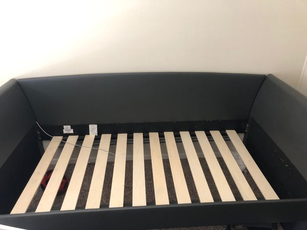 Twin Bed frame with 2 mattresses