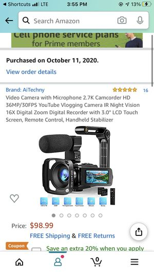 Video Camera (Never Opened) for Sale in King City, OR