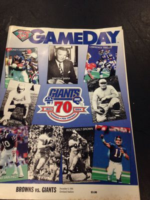 1994 game day packet for browns vs giants for Sale in Ocala, FL
