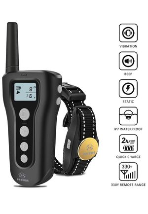Dog Training Shock Collar Rechargeable with Beep/Vibra/Electric Shock,100% Waterproof, 1200 ft Remote Trainer Range Collar for Small Medium Large Dog for Sale in Rancho Cucamonga, CA