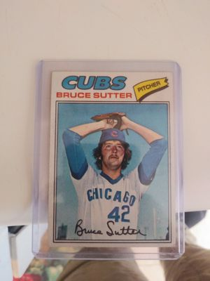 1977 Bruce Sutter Baseball Card 2nd Year for Sale in Wakefield, MA