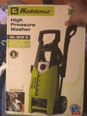 Koblenz Pressure Washer High Pressure HL-310V 2000 psi for Sale in Oxon Hill, MD