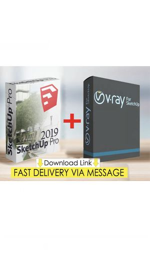 💥 V-ray 4.0 & Sketchup pro 2019 ☑️ Lifetime Activation ☑️ Unlimited Devices 💥 for Sale in Los Angeles, CA