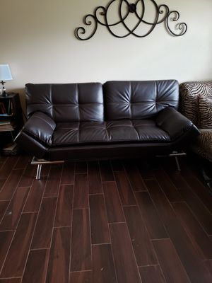 Black Leather Futon for Sale in Franklin, IN