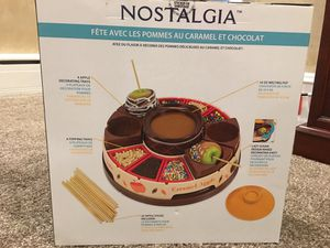 Nostalgia chocolate and caramel apple party for Sale in Philadelphia, PA