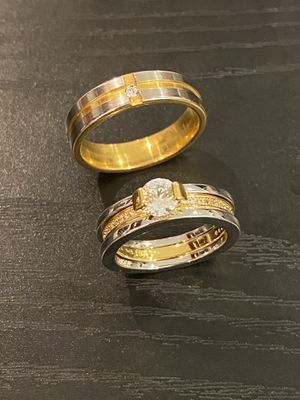 18K Gold plated Matching Ring set for Sale in Houston, TX