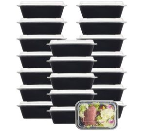 NutriBox [20 Value Pack] single one compartment 24 OZ Meal Prep Plastic Food Storage Containers - safe on microwafe dishwasher and Freezer for Sale in Orlando, FL