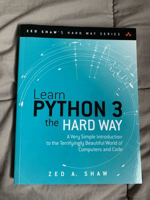Learn Python 3 The Hard Way Book for Sale in Allen Park, MI