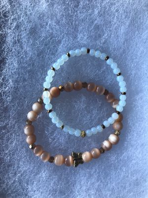 Cats eye and moonstone stretch bracelets for Sale in Lodi, CA