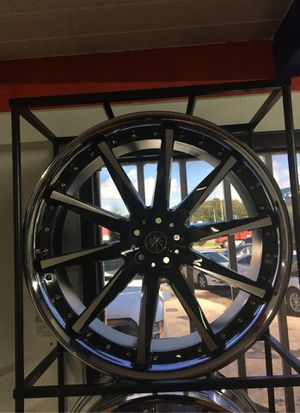 New Chrome/Black Rims for Sale in Orlando, FL