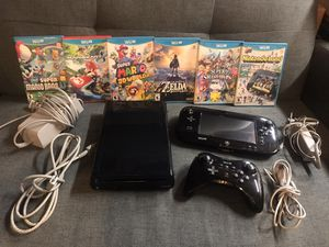 Nintendo Wii U console with Pro Controller & 6 Games!!! for Sale in Lancaster, CA