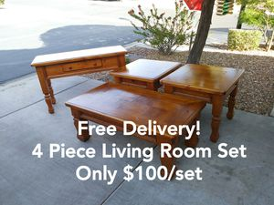 4 Piece Living Room Coffee Table Set w/ Free Delivery! for Sale in Glendale, AZ