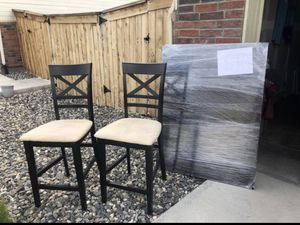 Black Wood Table and Chairs for Sale in Westminster, CO