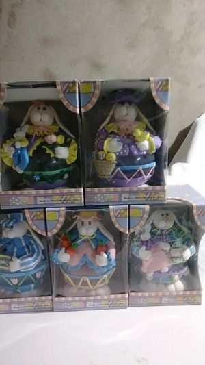 Collectible glass Easter bunnies brand new in box never been used they are absolutely adorable for Sale in Philadelphia, PA