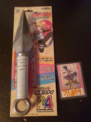 Boruto naruto shippuden light up kunai from Japan for Sale in Passaic, NJ
