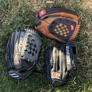 Baseball Gloves Easton Rawlings Franklin for Sale in Bakersfield, CA
