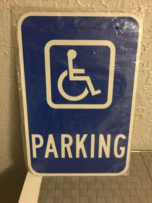Handicap sign. New. Ready to mount on wall or pole. $20 for Sale in Los Angeles, CA