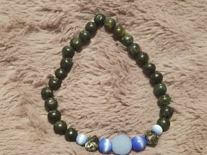 Mens beaded bracelet with tiger eye a and crystal for Sale in Wyndmoor, PA