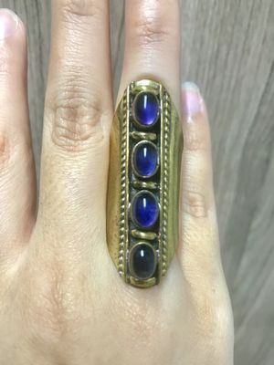 Amethyst Gemstone Bohemian Style Gold Ring 💜 for Sale in Houston, TX