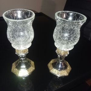 Gold glitter candle holders for Sale in Peoria, IL