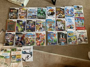 Wii Games $10 each or $100 for all including 2 DDR mats and dance mat for Sale in Auburn, WA