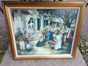 Emancipation framed oil painting on canvas for Sale in Washington, DC