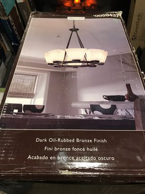 Allen + Roth, dark oil rubbed bronze finish 8 light chandelier for Sale in Columbus, OH