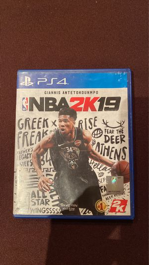 NBA 2K 19 for PS4 for Sale in Addison, IL