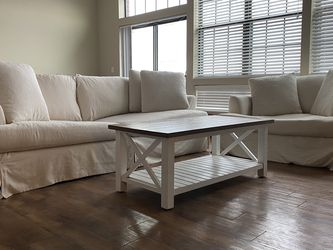 Cream Down Feathered Couches And Table for Sale in Dublin,  OH