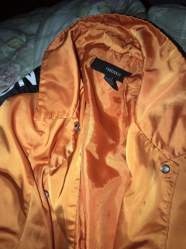 Forever 21 , orange windbreaker unisex M