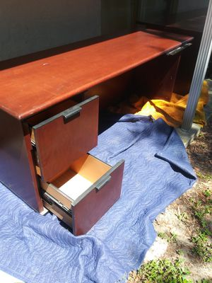 TWO DRAWER SOLID WOOD OFFICE DESK for Sale in Tampa, FL