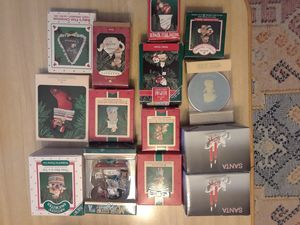 12 Vintage Christmas Ornaments and 2 Candle Holders for Sale in Tampa, FL
