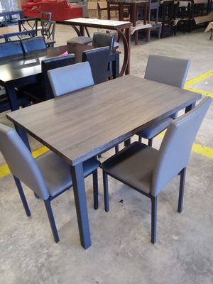 5pc Grey dining set for Sale in Greensboro, NC