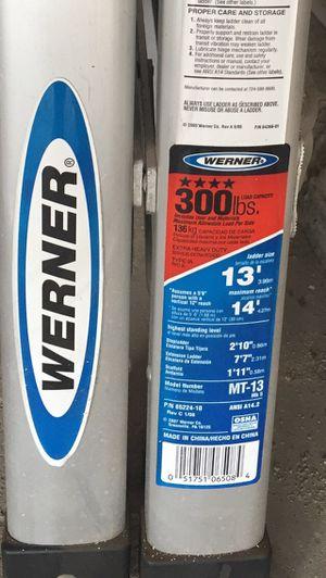 Werner 13ft. Aluminum Ladder MT-13 for Sale in Hoffman Estates, IL