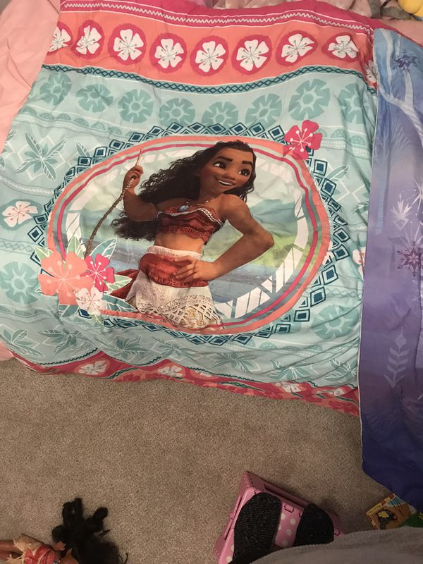 Toddler Size Moana And Frozen Bedding