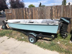 1974 14' fiberglass fishing boat for Sale in Redmond, OR
