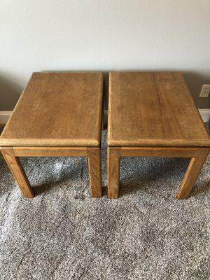 2 solid oak end tables for Sale in East Wenatchee, WA