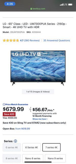 LG 65 inch for Sale in Colorado Springs, CO