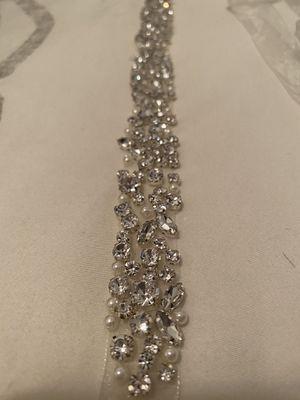 Diamond and pearl wedding dress belt for Sale in Cincinnati, OH