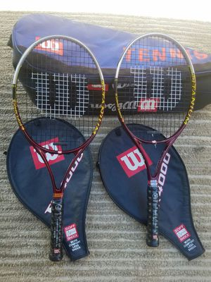 WILSON Tennis rackets 2 w/bag for Sale in Moreno Valley, CA